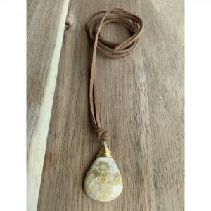 Coral Stone Necklace - Blombary Design