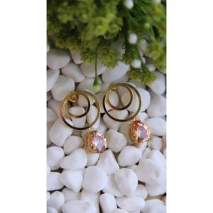 Circle gold earrings - blombary design