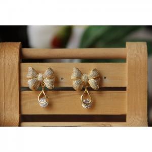Full Cubic Zirconia Earrings  - Blombary Design