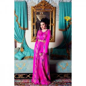 Pink two piece caftan - njk luxet passion