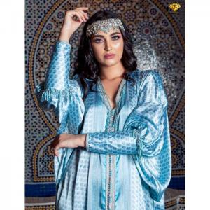 Silk satin papillion caftan - njk luxet passion