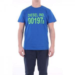 Diesel T-Shirt Short Sleeve Men Bluette