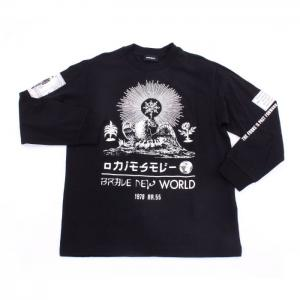 Diesel T-Shirt Long Sleeve Boys Black