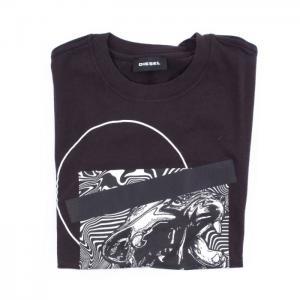 Diesel T-Shirt With Short Sleeves In Black Fantasy