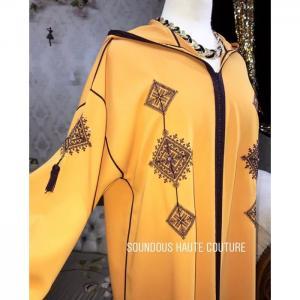 Point croix jellaba -  soundouss haute couture