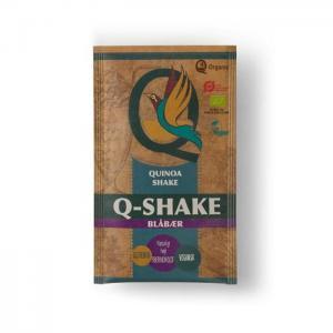 Organic quinoa q-shake with blueberries - q-organic