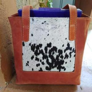 Leather Hairon Tote Bag  - Wanjiline Leather