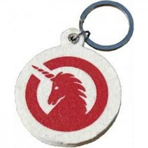Key Ring Made Of Felt - Unicorn