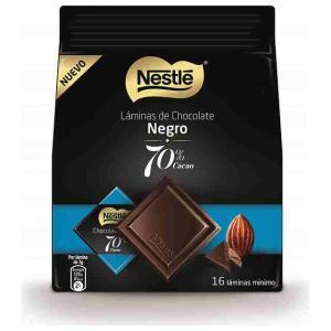 Nestle sheets of black chocolate