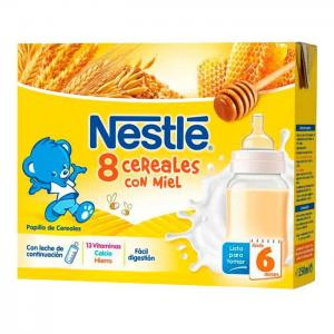 Nestlé liquid porridge 8 with cereals and honey
