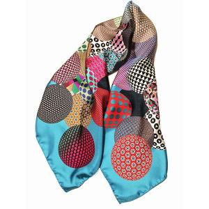 Rosellarama - Spherical 100% silk twill scarf