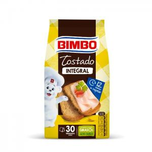Bimbo toasted wholemeal bread, 30 slices, 270gr - bimbo