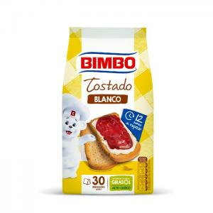 Bimbo traditional white toasted bread, 30 slices, 270gr - bimbo