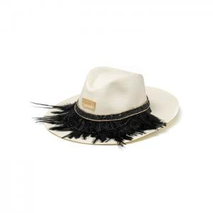 White hat black feathers - gianin