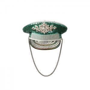 Captain luxury hat turquoise - gianin
