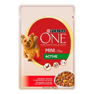 ONE MINI Dog Active Ox, Potatoes and Znahoria in Sauce 100g - Purina