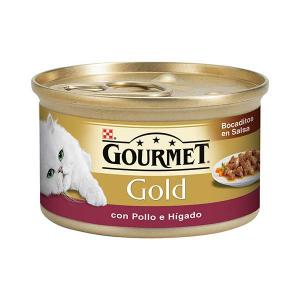 GOURMET GOLD Snacks in Salsa with Chicken and Liver 85g - Purina