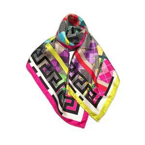 Rosellarama - Argyle 100% silk twill scarf
