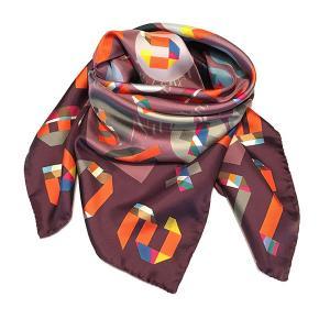 Rosellarama - Numbers 100% silk twill scarf