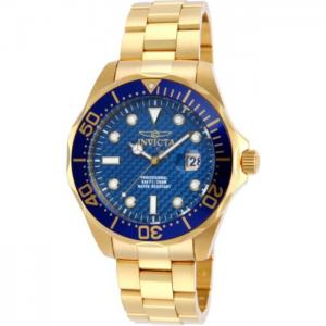 INVICTA Pro Diver Men 47mm Stainless Steel Gold Blue dial PC32A Quartz
