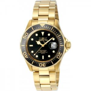 INVICTA Pro Diver Men 40mm Stainless Steel Gold Black dial 705 Quartz