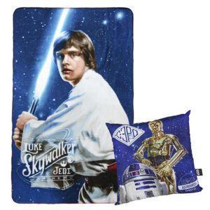 Plaid + cushion set star wars - cerdá