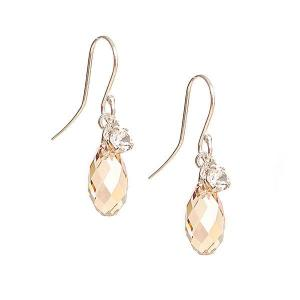 Earring with Swarovski crystal drops- Different styles - Dige Designs