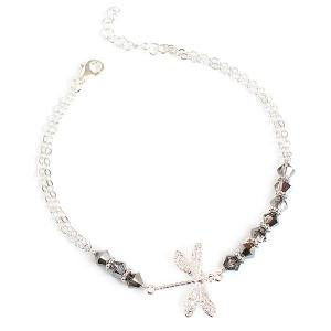 Dragonfly bracelet with swarovski crystals - different styles - dige designs