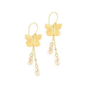 Butterfly earrings with swarovski crystals - dige designs