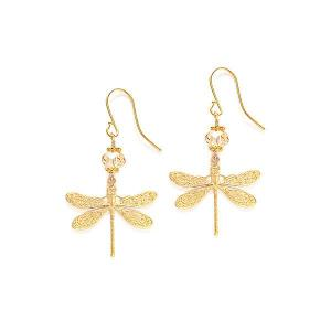 Dragonfly Earrings with Swarovski crystal - Different styles - Dige Designs