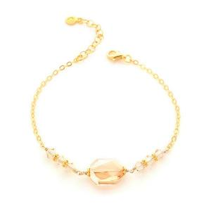 Bracelet with golden shadow swarovski - dige designs