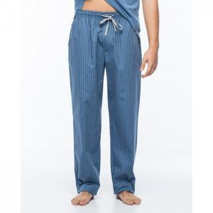 Long, poplin trousers, stripped, basix - punto blanco