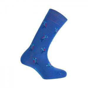 Short mercerized cotton socks - parrots - punto blanco