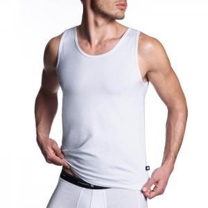 Basix sleeveless t-shirt - punto blanco