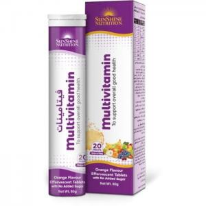 Sunshine nutrition multivitamin effervescent 20 tablets - sunshine