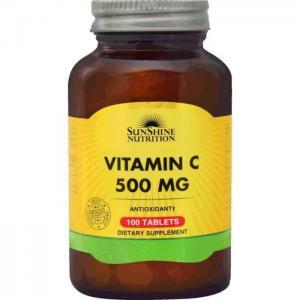 Sunshine nutrition vitamin c 500mg 100 tablets - sunshine