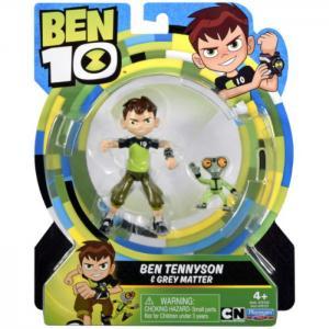 """Ben 10 basic figure 5"""" ben tennyson & grey matter 761001 - ben10"""