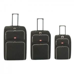 Princess travellers barcelona luggage trolley bag black set of 3 - princess traveller