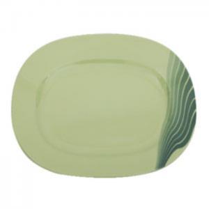 "Royalford melamine radiant thai oval plate, 14"" (green) - royalford"