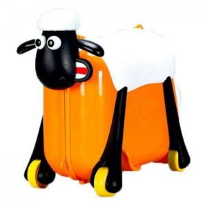Saipo sc0015 shaun the sheep ride on suit case orange -