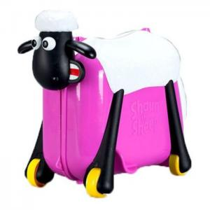 Saipo sc0019 shaun the sheep ride on suit case red rose -