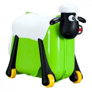 Saipo sc0017 shaun the sheep ride on suit case green -