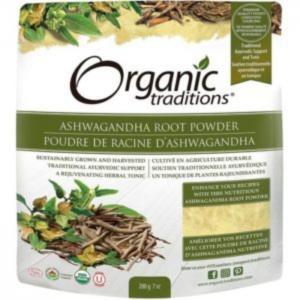 Organic traditions ashwagandha root powder 200g - organic traditions
