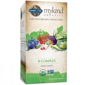 Garden of life mykind organics b-complex once daily 30 vegan tablets - garden of life