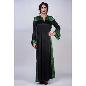 Iris emerald satin silk abaya - kaftan de moi