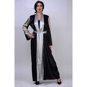 Iris pearl satin silk abaya - kaftan de moi