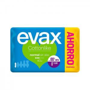 COTTONLIKE compresas normal sin alas 40 uds - EVAX