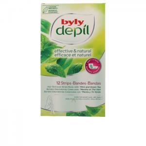 DEPIL bandas corporales menta y té green 12 uds - BYLY