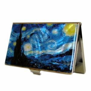 Mother of Pearl Business Card Case - Starry Night - Antique Alive