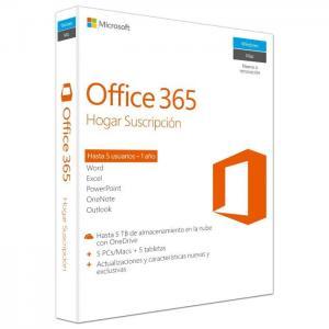 Office 365 hogar premium esd 5pc - microsoft (soft)